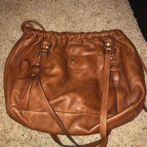 J Crew tan leather purse